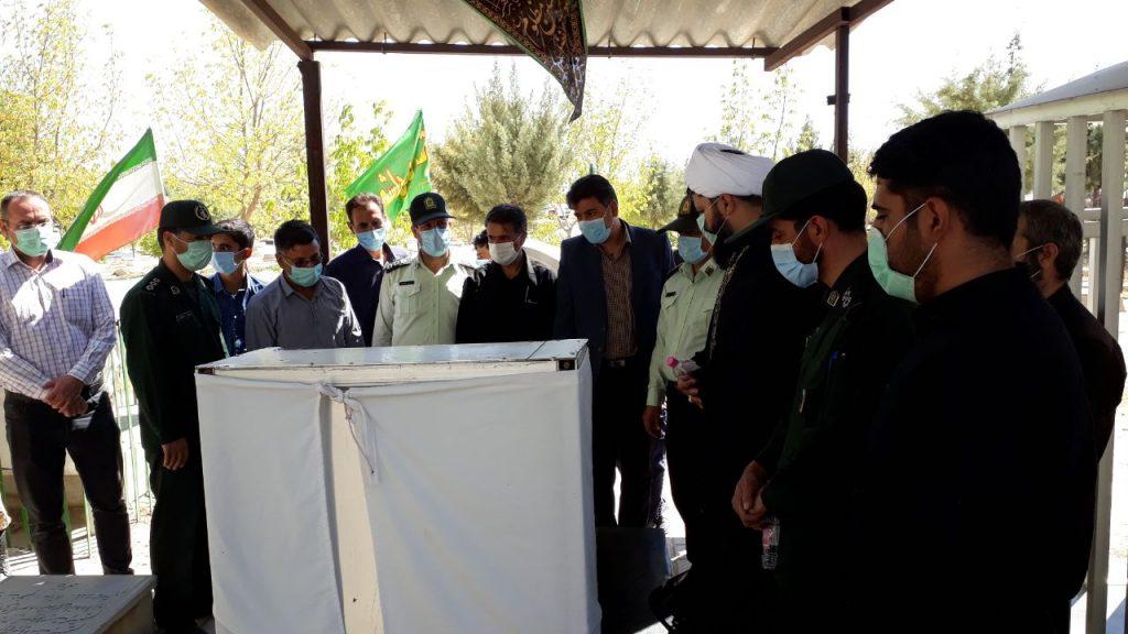 غبار روبی مزار شهدا به مناسبت هفته دفاع مقدس - شهرداری دلبران