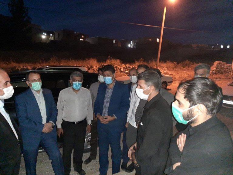 بازدید رئیس برنامه و بودجه کردستان به همراه مدیران استان و شهرستان از شهر دلبران